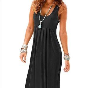 Dresses & Skirts - Casual Sleeveless Pleated Dress